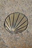 St James Way Shell Symbol, Santiago de Compostela Imagenes de archivo