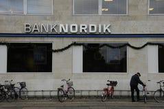 1ST JANUARI 2017 KASSA MINDRE BANK Arkivfoton