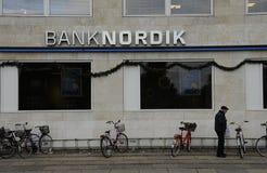 1ST JANUARI 2017 KASSA MINDRE BANK Arkivbild