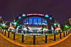 1st january, 2014, charlotte, nc, usa - night view of carolina p Royalty Free Stock Photos
