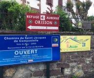 St Jean aan Aubergue Orisson voor Camino-Pelgrims royalty-vrije stock foto's