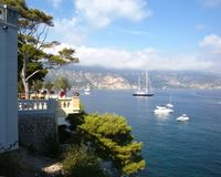 St. Jean Cap Ferrat, France. Bay in St. Jean Cap Ferrat, Azure Coast, France Stock Photo
