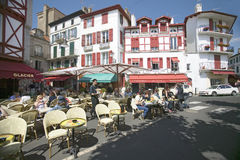 St. Jean de Luz, on the Cote Basque, South West France, a typical fishing village in the French-Basque region near the Spanish bor Stock Photos