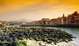St Jean de Luz Harbor Stock Photography
