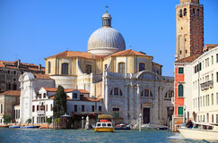 St Jeremiah's church on the Grand Canal. The church of San Geremia on the Grand Canal in Venice Royalty Free Stock Images