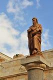 St Jerome雕象在伯利恒 免版税库存照片