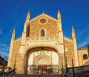 St. Jerome the Royal church facade in Madrid Stock Photo