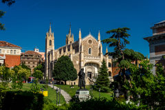 The St. Jerome Royal Church or Hieronymus Monastery in Madrid, Royalty Free Stock Photography