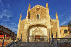 St. Jerome the Royal church in Madrid horizontal Stock Image