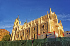 St. Jerome the Royal church in Madrid street view Royalty Free Stock Image