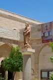 St. Jerome. The sculpture of St. Jerome. The Church of Saint Catherine in Bethlehem Royalty Free Stock Photo