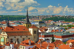St. Jilji,Panorama of Prague, Czech Republic Royalty Free Stock Image