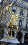 St Joan Of Arc, Paris, France. Famous statue of St. Joan Of Arc on her Horse in Paris, France Stock Photography