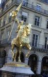 St Joan av bågen, Paris, Frankrike Arkivbild