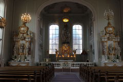 St Joannis della basilica a Saarbruecken fotografie stock libere da diritti
