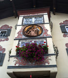 St. Johann, Austria - October 13, 2016: The bay window of an old house. Royalty Free Stock Image
