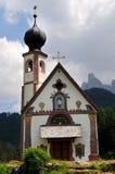 ST Johann Church, Santa Maddalena, Di Funes, δολομίτες Val Στοκ εικόνα με δικαίωμα ελεύθερης χρήσης