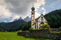 St Johann Church, Santa Maddalena, Val Di Funes, Dolomites, Royalty Free Stock Photography