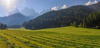 St Johann Church, Santa Maddalena, Val Di Funes. Dolomites, Italy Royalty Free Stock Photos