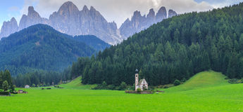 St Johann Church, Santa Maddalena, Val Di Funes Royalty Free Stock Images