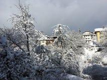St Johann im Pongau, Oostenrijk in de Winter Royalty-vrije Stock Fotografie