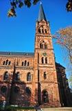 St Johann Kościelna fasada w Freiburg im Breisgau, Niemcy zdjęcie royalty free