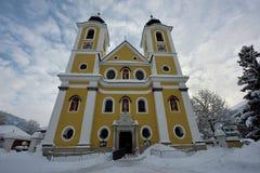 St. Johann in Tirol-Kirche Stockfoto