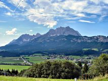 \St. Johann\ in Tyrol and the \Wilder Kaiser\ Stock Images