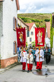 St. Johannes procession in Oberrrotweil, Germany Stock Image