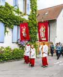 St. Johannes procession in Oberrrotweil, Germany Royalty Free Stock Images