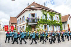 St. Johannes procession in Oberrrotweil, Germany Stock Images