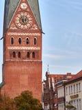 St Johannis Church i LÃ-¼neburg, Tyskland Fotografering för Bildbyråer