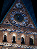 The St. Johannis Church in Lueneburg at nighttime Royalty Free Stock Image