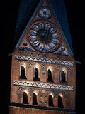 The St. Johannis Church in Lueneburg at nighttime Stock Photography