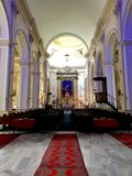 St. John's Cathedral Izmir. Inside view of Saint John's Cathedral in Izmir, Turkey royalty free stock photography