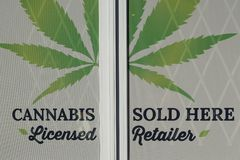 Cannabis retail stock images