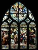ST John ο βαπτιστικός που εισάγεται από τη μητέρα του, ST Elizabeth, το νήπιο Ιησούς και η ιερή συγγένεια η Virgin, ST Joseph και Στοκ Εικόνα