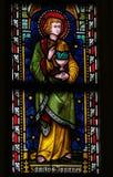 St. John евангелист - цветное стекло стоковые изображения rf