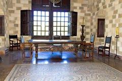 St John adlar slotten i Rhodes Fotografering för Bildbyråer