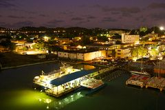 St John alla notte, Antigua Fotografie Stock