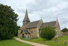 St John The Bapist Church, Capel, Sussex, het UK royalty-vrije stock afbeelding
