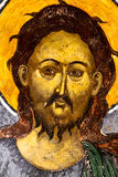 St. John the Baptist. Painting on Sucevita Monastery Wall royalty free stock photo