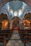 St John Baptist Cathedral, la iglesia católica romana en Fira, Santorini, Grecia Imagen de archivo libre de regalías