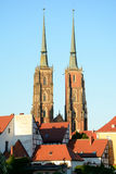 St John the Baptist Cathedral towers in Wroclaw, Poland Stock Photo