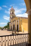 St John Baptist Catholic Church dans Remedios, Cuba Photos stock