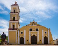 St John Baptist Catholic Church dans Remedios, Cuba Images libres de droits