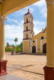 St John Baptist Catholic Church dans Remedios, Cuba Image libre de droits