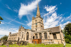 St John the Baptist church, Burford Royalty Free Stock Photos