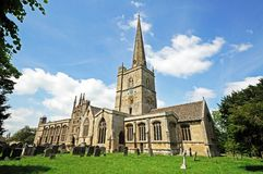St John the Baptist church, Burford. Royalty Free Stock Image