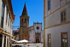 St. John the Baptist church, market square, Tomar Stock Image